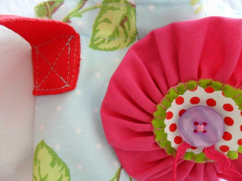 Pretty Rose Fabric Messenger Bag