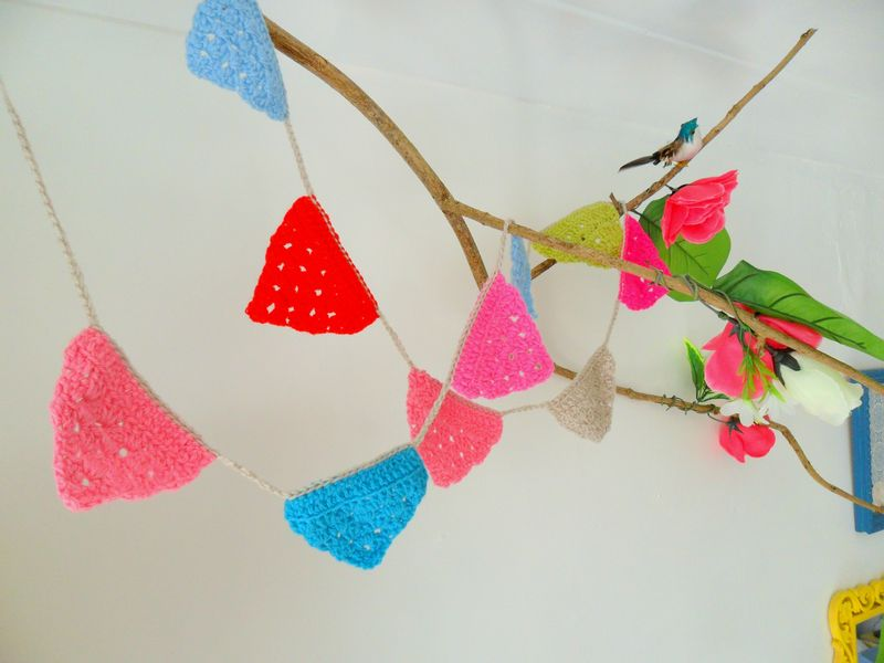 Crochet Summer garland