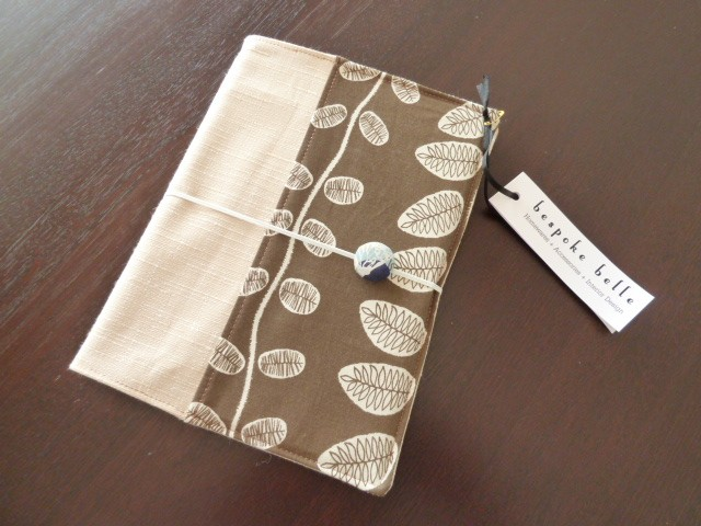 A5 Fabric Notebook Cover and Book, featuring Bird Textile