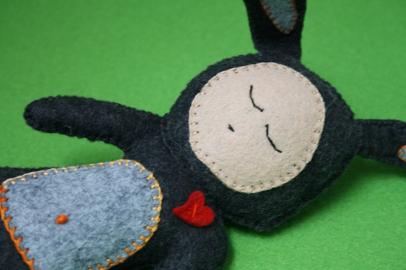 Sleepy bunny felt toy